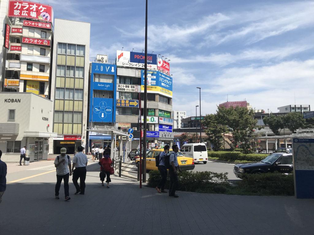 JR鶴見駅東口 駅前風景